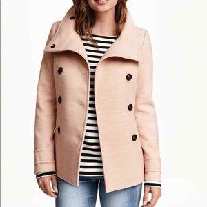 H&M Blush Pink Pea Coat